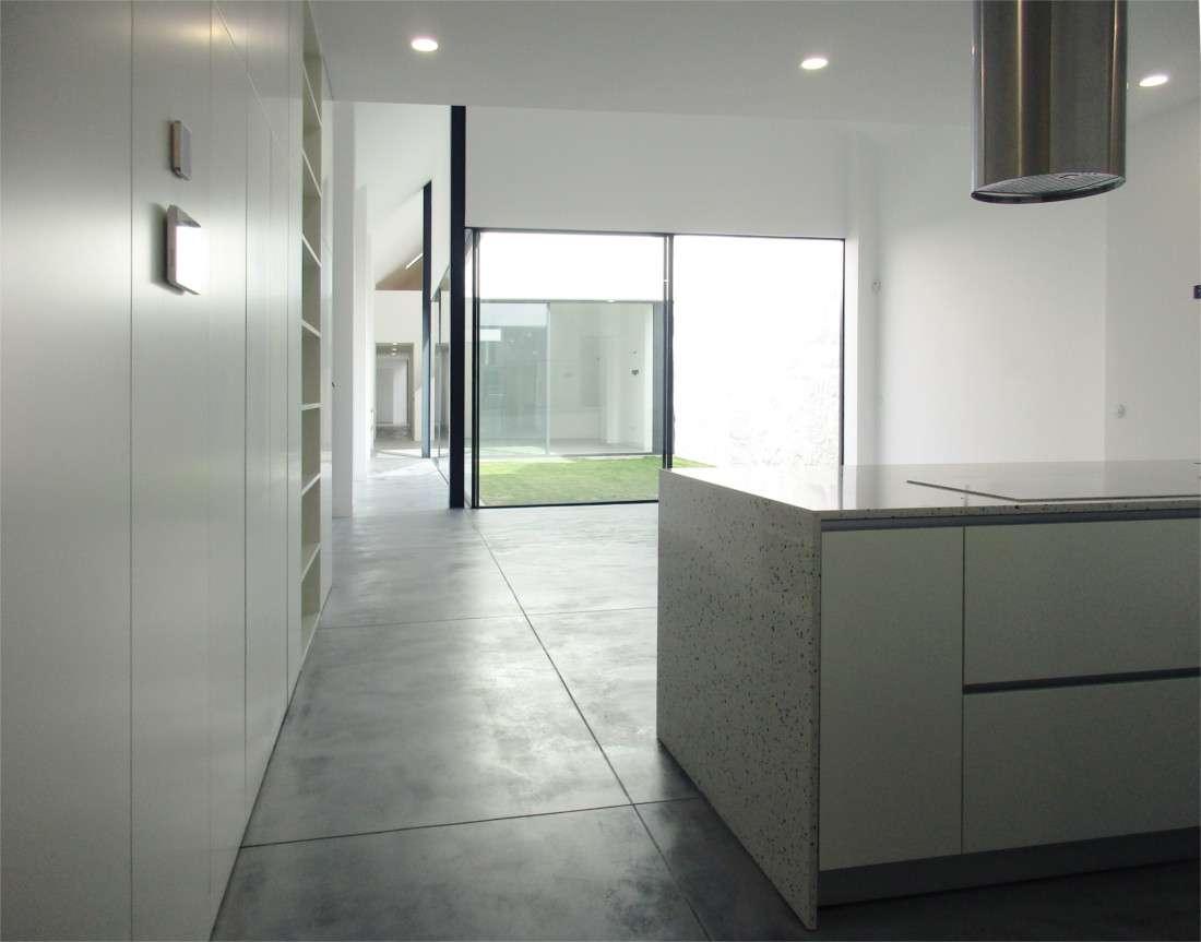 Loft House kitchen and corridor