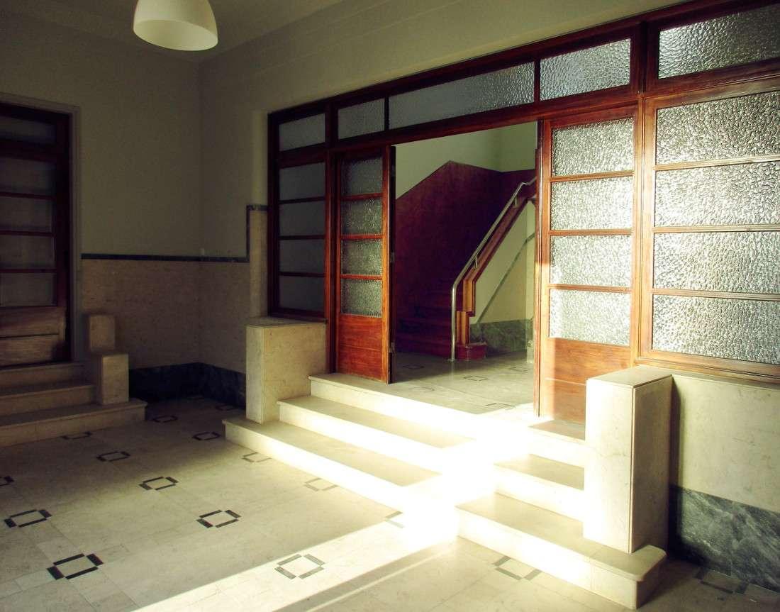 Historic Building Rehabilitation - Art Deco entrance